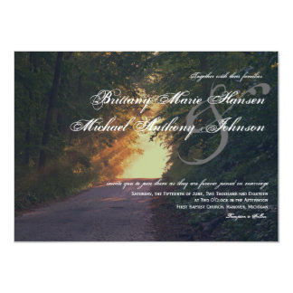 Sunlight Path of Trees Country Wedding Invitations