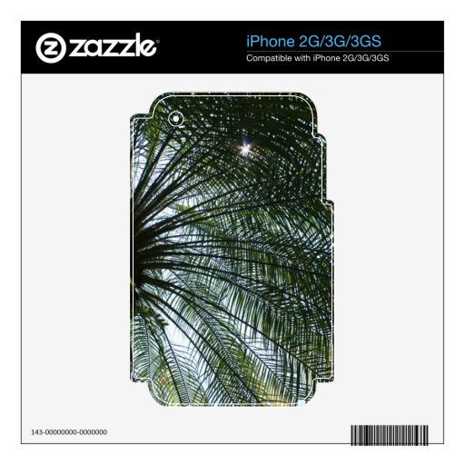Sunlight Peeking Through Palm Tree Decal For iPhone 2G