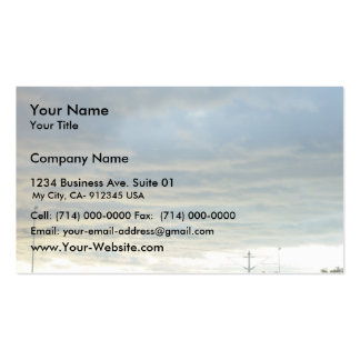 Sunlight Reflected From The Ocean Lights Up Cloud Business Card Template