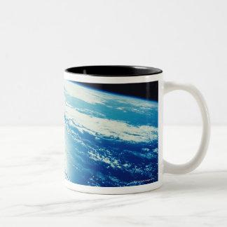 Sunlight Shining on the Ocean Two-Tone Coffee Mug