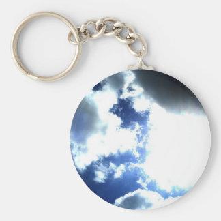 Sunlight Storm Basic Round Button Keychain
