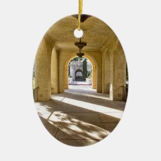 Sunlight Through Arches Ceramic Ornament