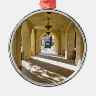 Sunlight Through Arches Metal Ornament