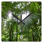 Sunlight Through Rain Forest Canopy Wall Clock