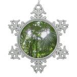 Sunlight Through Rain Forest Snowflake Ornament