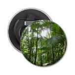 Sunlight Through Rainforest Canopy Tropical Green Bottle Opener
