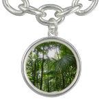 Sunlight Through Rainforest Canopy Tropical Green Charm Bracelets