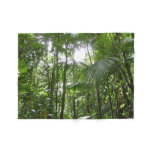 Sunlight Through Rainforest Canopy Tropical Green Fleece Blanket