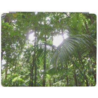 Sunlight Through Rainforest Canopy Tropical Green iPad Cover