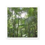 Sunlight Through Rainforest Canopy Tropical Green Paper Napkin