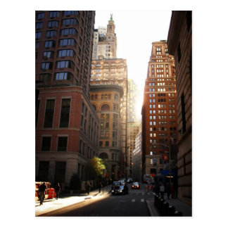 Sunlight Through Skyscrapers, New York City Postcard