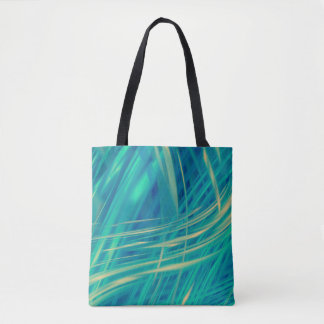 Sunlight Through Teal Abstract Tote Bag