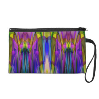 Sunlight Through the Clerestory Stained-Glass Look Wristlet Clutches