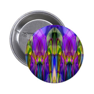 Sunlight Through the Clerestory Stained-Glass Look Pinback Buttons