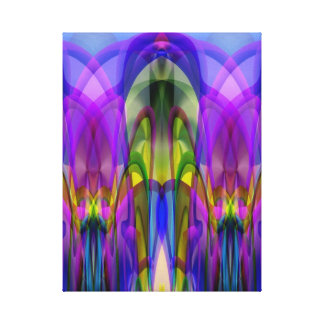 Sunlight Through the Clerestory Stained-Glass Look Stretched Canvas Prints