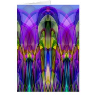 Sunlight Through the Clerestory Stained-Glass Look Greeting Card