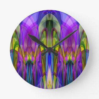 Sunlight Through the Clerestory Stained-Glass Look Wall Clock
