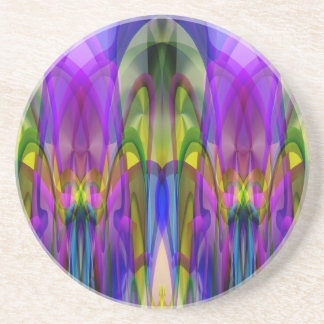 Sunlight Through the Clerestory Stained-Glass Look Drink Coasters