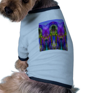 Sunlight Through the Clerestory Stained-Glass Look Doggie Tee Shirt