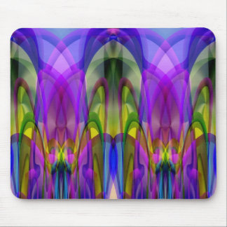 Sunlight Through the Clerestory Stained-Glass Look Mousepad