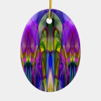 Sunlight Through the Clerestory Stained-Glass Look Christmas Tree Ornaments