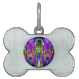 Sunlight Through the Clerestory Stained-Glass Look Pet Tags