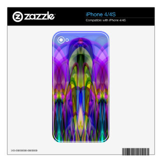 Sunlight Through the Clerestory Stained-Glass Look Skins For iPhone 4S