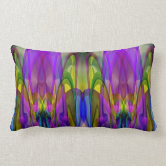 Sunlight Through the Clerestory Stained-Glass Look Throw Pillow