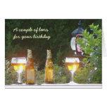 Sunlit beer in France birthday card