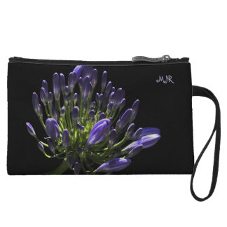 Sunlit Blooming Purple Agapanthus, African Lily Wristlet Purses