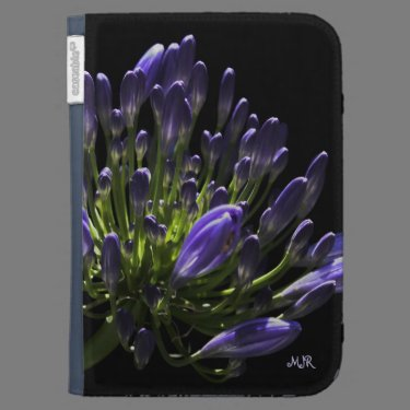 Sunlit Blooming Purple Agapanthus, African Lily Kindle Cases