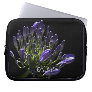 Sunlit Blooming Purple Agapanthus, African Lily Laptop Sleeve