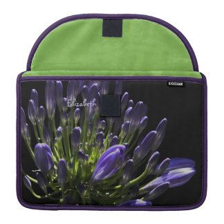 Sunlit Blooming Purple Agapanthus, African Lily Sleeves For MacBooks