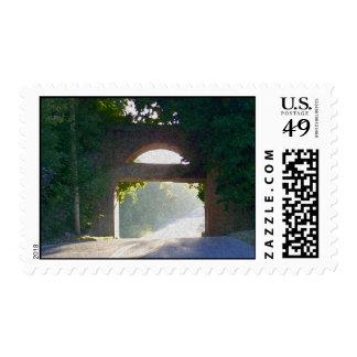 Sunlit Bridge Postage Stamp