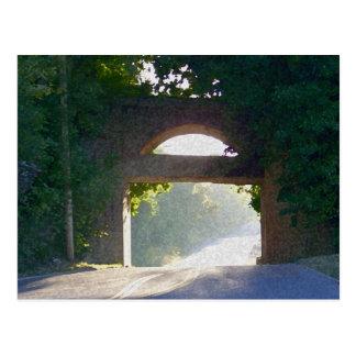Sunlit Bridge Post Card