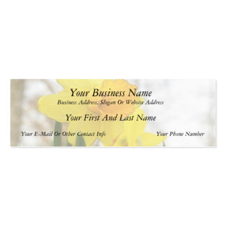 Sunlit Daffodils Double-Sided Mini Business Cards (Pack Of 20)