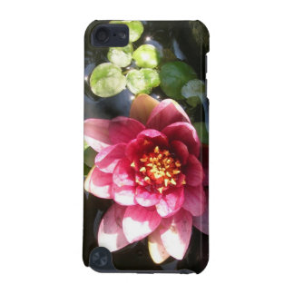 Sunlit Dark Pink Water Lily Flower iPod Touch (5th Generation) Covers