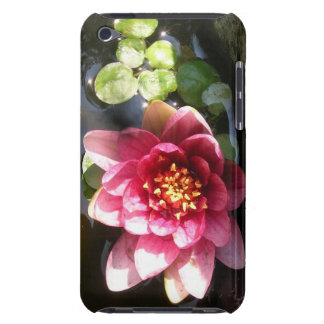Sunlit Dark Pink Water Lily Flower iPod Touch Cases