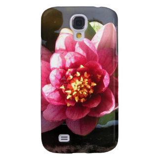 Sunlit Dark Pink Water Lily Flower Samsung Galaxy S4 Cover