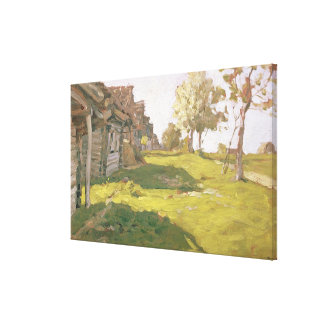 Sunlit Day. A Small Village, 1898 Canvas Print