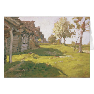 Sunlit Day. A Small Village, 1898 Card