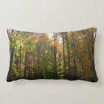 Sunlit Fall Forest Autumn Landscape Photography Lumbar Pillow