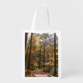 Sunlit Fall Trail in Laurel Hill State Park Grocery Bag