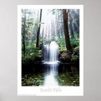Sunlit Falls Poster