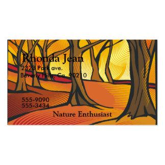 Sunlit Forest Set Business Card