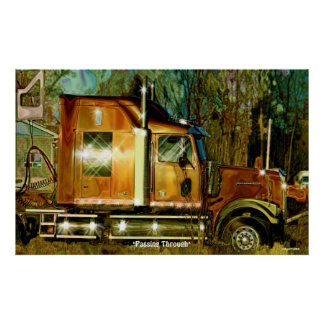 Sunlit Freight Truck Lorry Driver's Art Poster