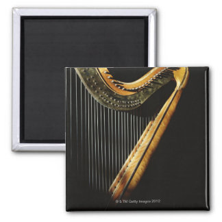 Sunlit Harp 2 Inch Square Magnet