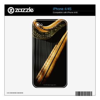Sunlit Harp Decals For iPhone 4S