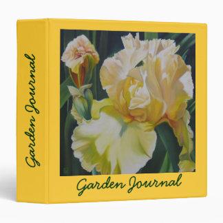 "Sunlit Iris 1.5"" Garden Journal 3 Ring Binder"