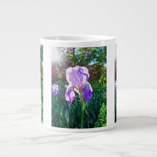 """Sunlit Iris"" Large Coffee Mug"